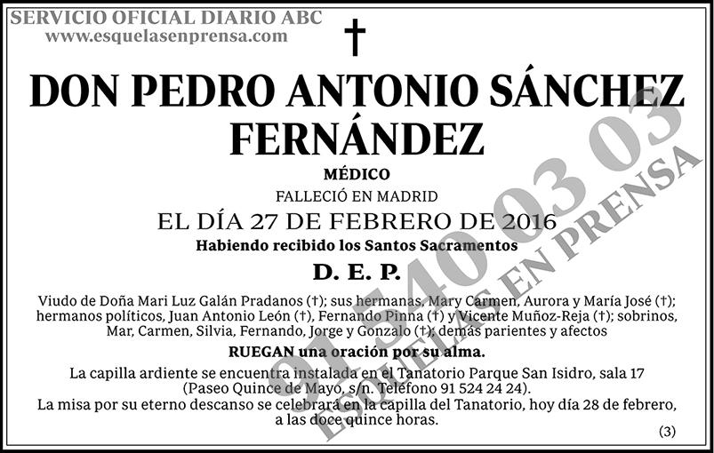 Pedro Antonio Sánchez Fernández